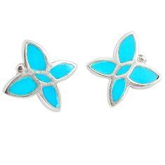 925 sterling silver fine blue turquoise enamel earrings jewelry a69666 c14258