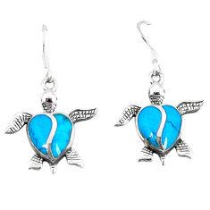 925 sterling silver fine blue turquoise enamel tortoise earrings a55508 c14389