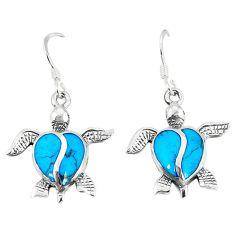 925 sterling silver fine blue turquoise enamel tortoise earrings a55520 c14387