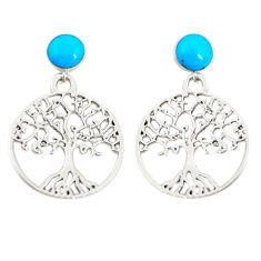 925 sterling silver fine blue turquoise tree of life earrings jewelry c11803