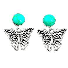 925 sterling silver fine green turquoise butterfly earrings jewelry c11710
