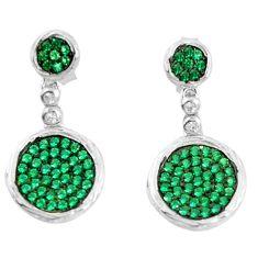 925 sterling silver green emerald quartz dangle earrings jewelry a82813 c24725
