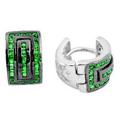 925 sterling silver green emerald quartz stud earrings jewelry c19486