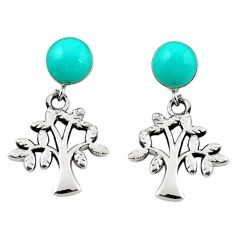 925 sterling silver fine green turquoise tree of life earrings jewelry c11618
