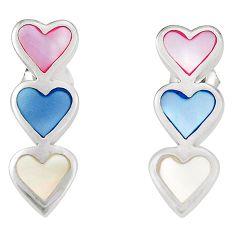925 sterling silver multi color blister pearl enamel earrings a75907 c14296