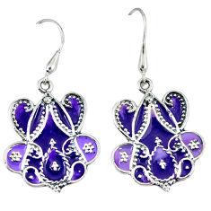 925 sterling silver multi color enamel dangle earrings jewelry c16547