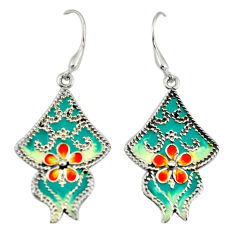 925 sterling silver multi color enamel dangle earrings jewelry c26102