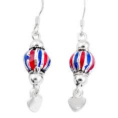 925 sterling silver 3.89gms multi color enamel earrings jewelry c20241
