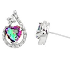 925 sterling silver multi color rainbow topaz topaz earrings a77356 c24596