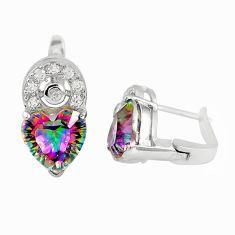 925 sterling silver multi color rainbow topaz topaz stud earrings a77338 c24542