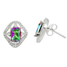 925 sterling silver multi color rainbow topaz white topaz earrings a85869 c24567