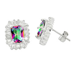 925 sterling silver multi color rainbow topaz white topaz earrings a85873 c24561