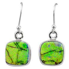 925 sterling silver 7.01cts multi color sterling opal dangle earrings r70164