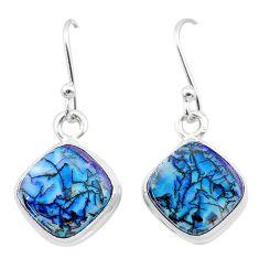 925 sterling silver 5.22cts multi color sterling opal dangle earrings t26304