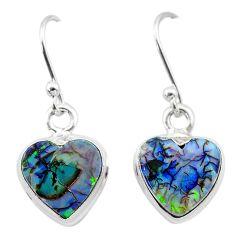 925 sterling silver 4.59cts multi color sterling opal dangle earrings t26308