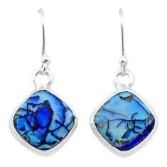 925 sterling silver 5.57cts multi color sterling opal dangle earrings t26312