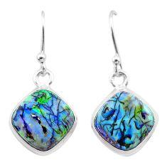 925 sterling silver 5.57cts multi color sterling opal dangle earrings t26316