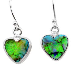 925 sterling silver 4.91cts multi color sterling opal dangle earrings t26320