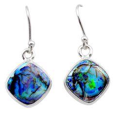925 sterling silver 5.79cts multi color sterling opal earrings jewelry t26333