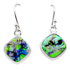 925 sterling silver 5.20cts multi color sterling opal earrings jewelry t26336