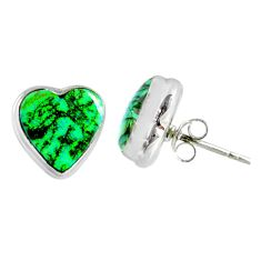 925 sterling silver 4.83cts multi color sterling opal heart stud earrings r62854