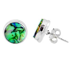 925 sterling silver 5.47cts multi color sterling opal stud earrings r62873