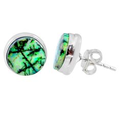 925 sterling silver 5.87cts multi color sterling opal stud earrings r62877
