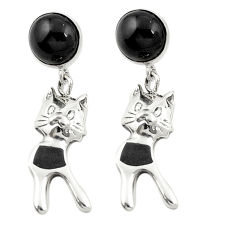 925 sterling silver natural black onyx dangle earrings jewelry c11640