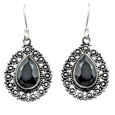 925 sterling silver 11.19cts natural black onyx dangle earrings jewelry d40996