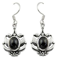 925 sterling silver 3.91cts natural black onyx dangle earrings jewelry d46828