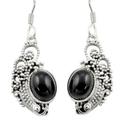 925 sterling silver 8.42cts natural black onyx dangle earrings jewelry d46909