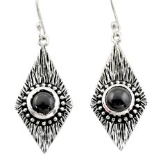 925 sterling silver 4.11cts natural black onyx dangle earrings jewelry d47094