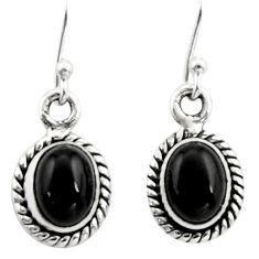 925 sterling silver 5.22cts natural black onyx dangle earrings jewelry r26706
