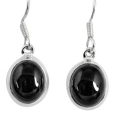925 sterling silver 7.93cts natural black onyx dangle earrings jewelry r60687