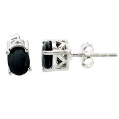 ver 2.81cts natural black onyx stud earrings jewelry r87435