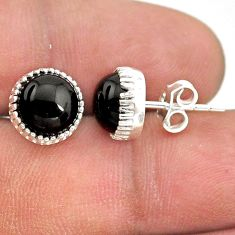 925 sterling silver 5.88cts natural black onyx stud earrings jewelry t43733