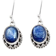 Clearance Sale- 925 sterling silver 7.55cts natural blue kyanite dangle earrings jewelry d40418