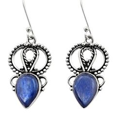 Clearance Sale- 925 sterling silver 7.79cts natural blue kyanite dangle earrings jewelry d40823