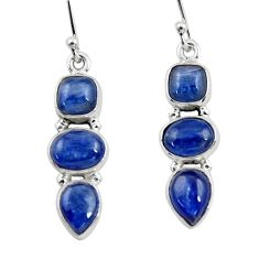 925 sterling silver 11.53cts natural blue kyanite dangle earrings jewelry r47224