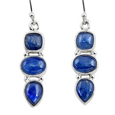 925 sterling silver 12.20cts natural blue kyanite dangle earrings jewelry r47239