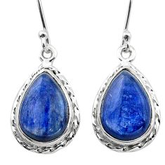 925 sterling silver 11.57cts natural blue kyanite dangle earrings jewelry t13910