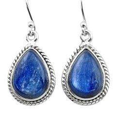 925 sterling silver 12.03cts natural blue kyanite dangle earrings jewelry t13914