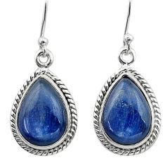 925 sterling silver 11.64cts natural blue kyanite dangle earrings jewelry t13918