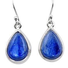 925 sterling silver 11.57cts natural blue kyanite dangle earrings jewelry t13932