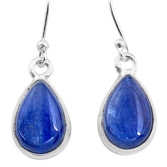 925 sterling silver 8.32cts natural blue kyanite dangle earrings jewelry t21384