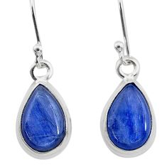 925 sterling silver 7.13cts natural blue kyanite dangle earrings jewelry t21387