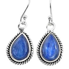 925 sterling silver 8.49cts natural blue kyanite dangle earrings jewelry t21390