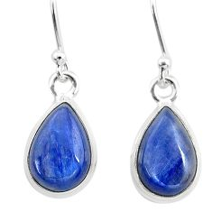 925 sterling silver 7.97cts natural blue kyanite dangle earrings jewelry t21395
