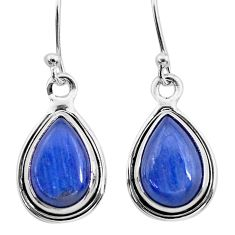 925 sterling silver 8.53cts natural blue kyanite dangle earrings jewelry t21398