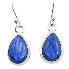 925 sterling silver 7.93cts natural blue kyanite dangle earrings jewelry t21407